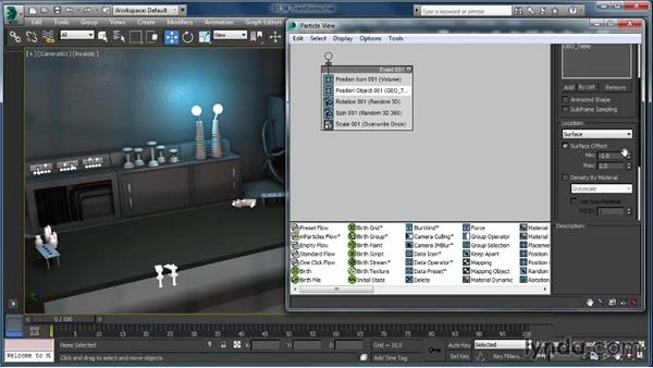 The Transform operators: Up and Running with Particle Flow in 3ds Max