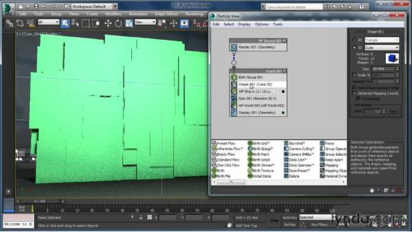mParticle operators: Up and Running with Particle Flow in 3ds Max