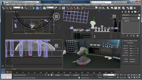 Adding collision detection: Up and Running with Particle Flow in 3ds Max