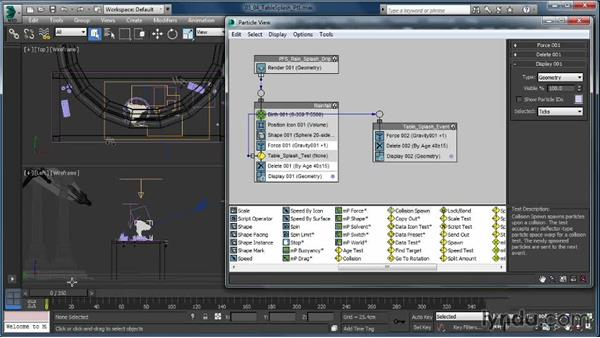 Creating the table splash: Part one: Up and Running with Particle Flow in 3ds Max