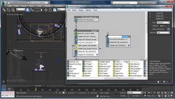 Setting up the sculpt splash: Up and Running with Particle Flow in 3ds Max