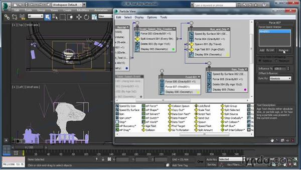 Finalizing the drip system: Up and Running with Particle Flow in 3ds Max