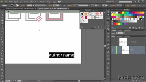Using symbols to simulate master pages: Illustrator CC 2013 One-on-One: Mastery