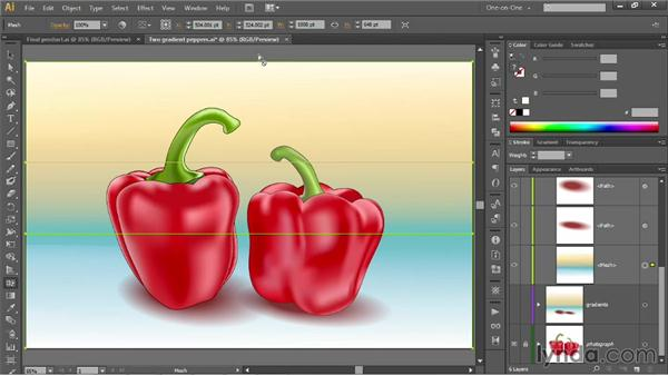 Converting a linear gradient to a mesh: Illustrator CC 2013 One-on-One: Mastery