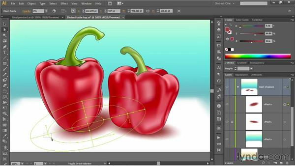 Converting a radial gradient to a mesh: Illustrator CC 2013 One-on-One: Mastery