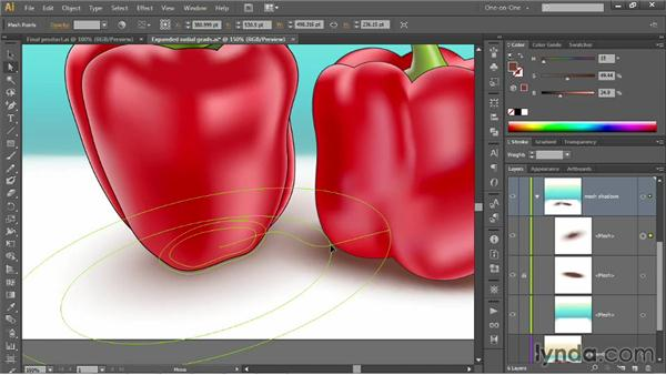 Using gradients to cast shadows: Illustrator CC 2013 One-on-One: Mastery