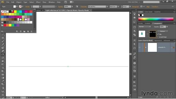 Black conceals, white reveals: Illustrator CC 2013 One-on-One: Mastery