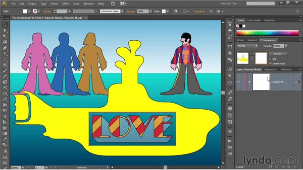 Introducing opacity masks: Illustrator CC 2013 One-on-One: Mastery