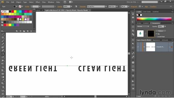 Assigning an empty opacity mask to a layer: Illustrator CC 2013 One-on-One: Mastery