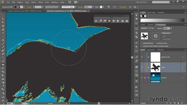 Two ways to apply free-form distortions: Illustrator CC 2013 One-on-One: Mastery