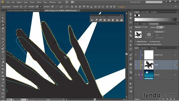 Liquifying an isolated portion of a path: Illustrator CC 2013 One-on-One: Mastery