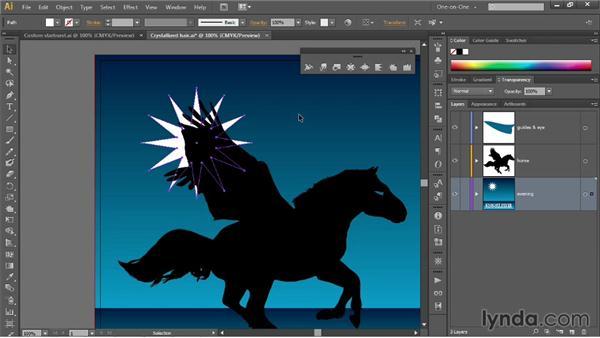 Simplifying a path; creating a custom starburst: Illustrator CC 2013 One-on-One: Mastery