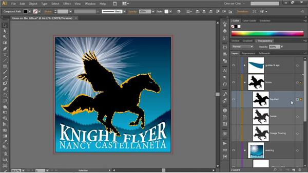 Masking the contents of an entire layer: Illustrator CC 2013 One-on-One: Mastery