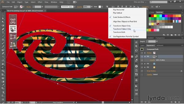 Free transforming tile patterns: Illustrator CC 2013 One-on-One: Mastery