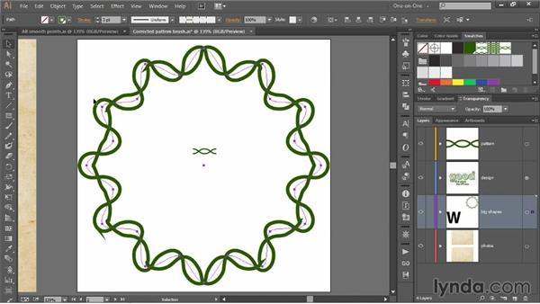 Adjusting a pattern brush to match its path: Illustrator CC 2013 One-on-One: Mastery