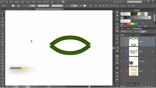 Automating and designing a corner tile: Illustrator CC 2013 One-on-One: Mastery