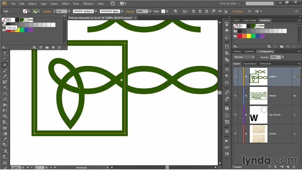 Creating end tiles and tile perimeters: Illustrator CC 2013 One-on-One: Mastery