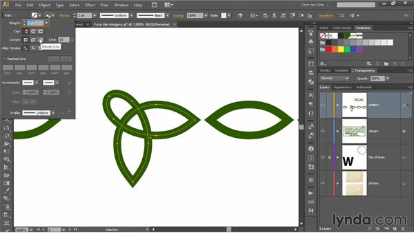 Cropping your designs inside your tiles: Illustrator CC 2013 One-on-One: Mastery