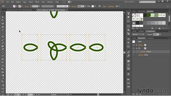 Adding a white buffer zone to a pattern brush: Illustrator CC 2013 One-on-One: Mastery