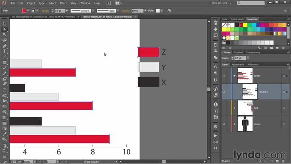 Importing and graphing numerical data: Illustrator CC 2013 One-on-One: Mastery