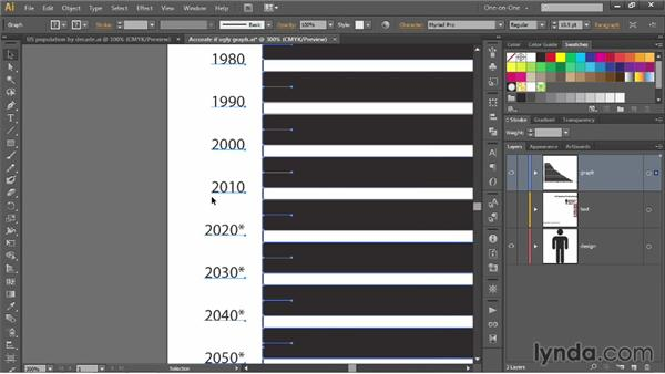 Reformatting text and values in a graph: Illustrator CC 2013 One-on-One: Mastery