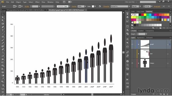 Creating and applying a graph design: Illustrator CC 2013 One-on-One: Mastery