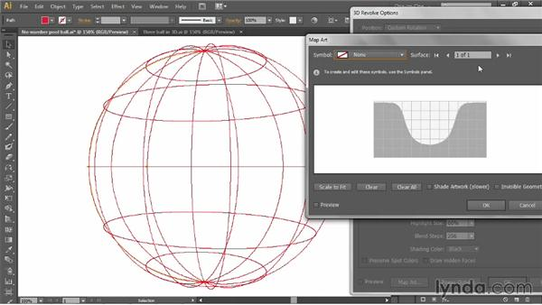 Mapping artwork onto a 3D object: Illustrator CC 2013 One-on-One: Mastery