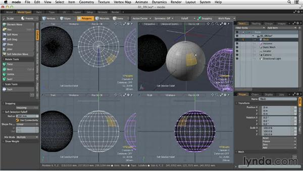 Using items, components, and meshes: MODO 701 Essential Training