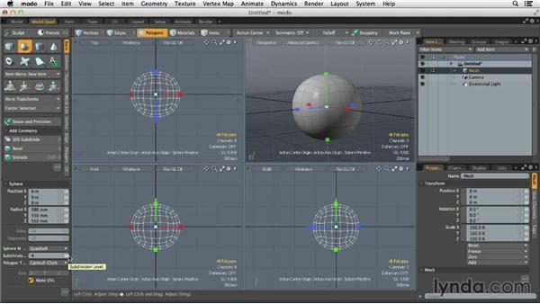 Exploring geometric primitives: MODO 701 Essential Training