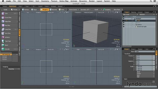 Working with mesh subdivision: MODO 701 Essential Training