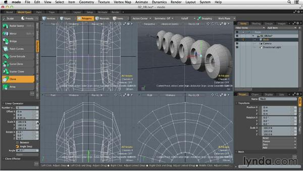 Modeling with object duplication: MODO 701 Essential Training