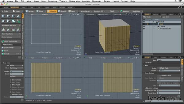 Creating creases and sharp edges in SubDs: MODO 701 Essential Training