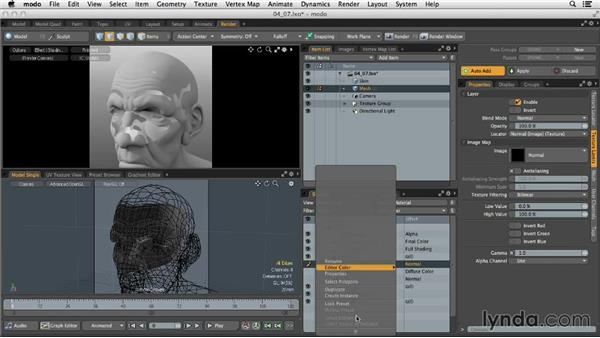 Baking additional details to a retopologized mesh: MODO 701 Essential Training