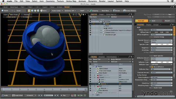 Understanding shaders, materials, and textures: MODO 701 Essential Training
