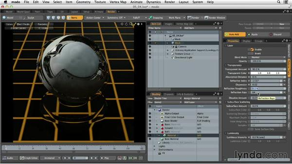 Understanding Material Trans settings: MODO 701 Essential Training
