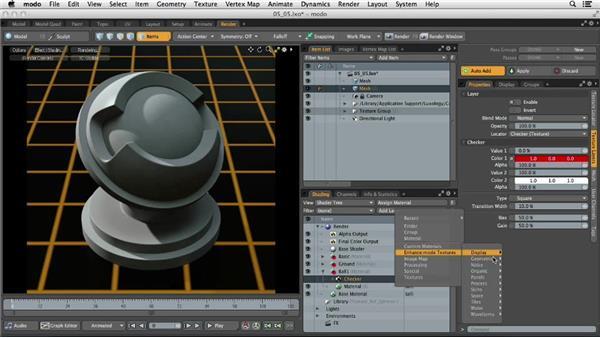 Utilizing procedural textures: MODO 701 Essential Training