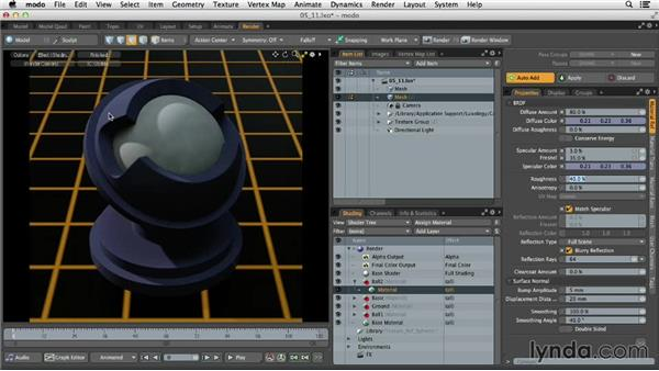 Creating complex single-layer materials: MODO 701 Essential Training