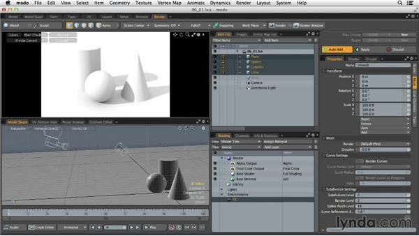 Understanding lighting in 3D space: MODO 701 Essential Training