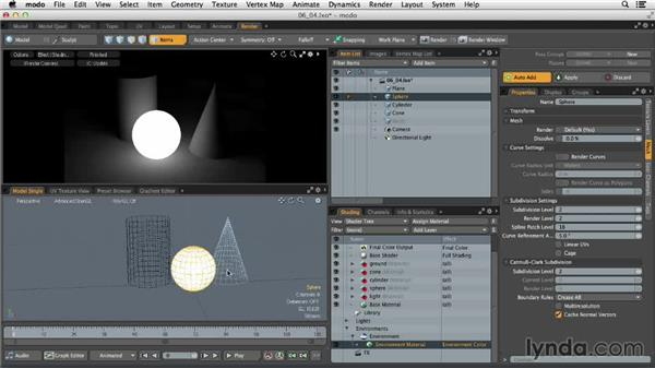Working with object-based lighting: MODO 701 Essential Training