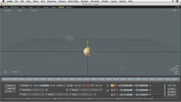 Understanding animation in MODO: MODO 701 Essential Training
