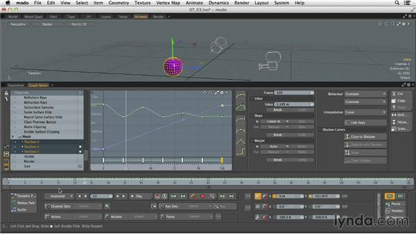 Using the Graph Editor: MODO 701 Essential Training
