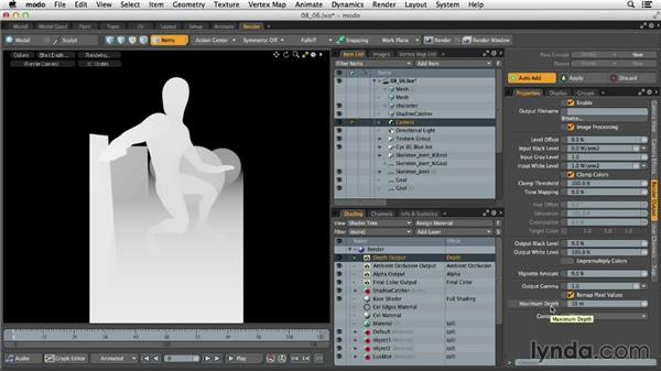 Adding render outputs: MODO 701 Essential Training