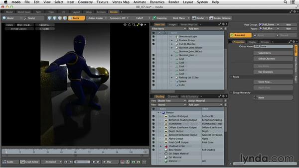 Working with render passes: MODO 701 Essential Training
