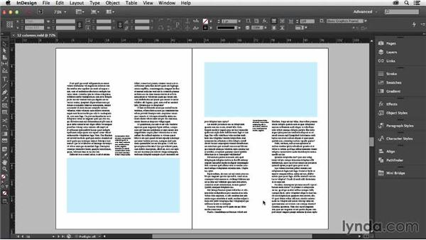 Some permutations of a twelve-column grid: Designing with Grids in InDesign