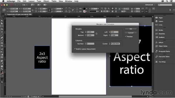 Controlling the aspect ratio of your type area: Designing with Grids in InDesign