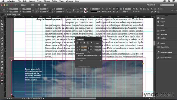 Using text wraps with grids: Designing with Grids in InDesign