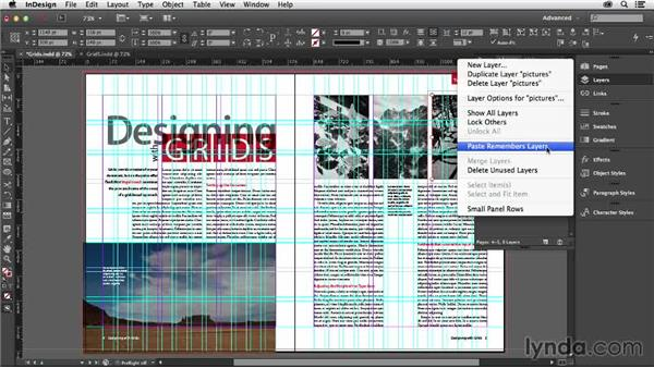 Using layers with grids: Designing with Grids in InDesign