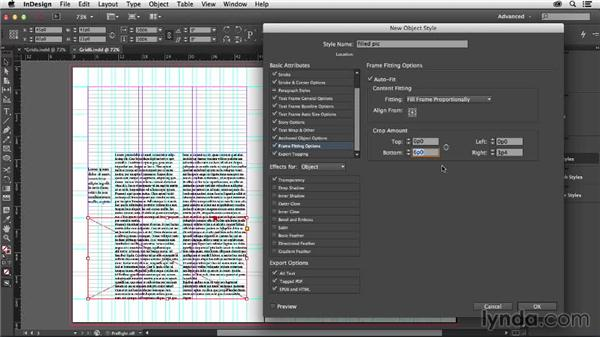 Combining object styles with grids: Designing with Grids in InDesign