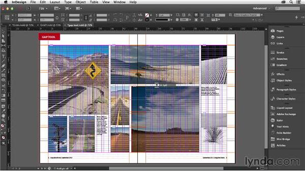 Using the Gap tool with grids: Designing with Grids in InDesign