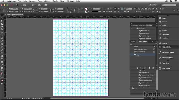 Using the MakeGrid script: Designing with Grids in InDesign